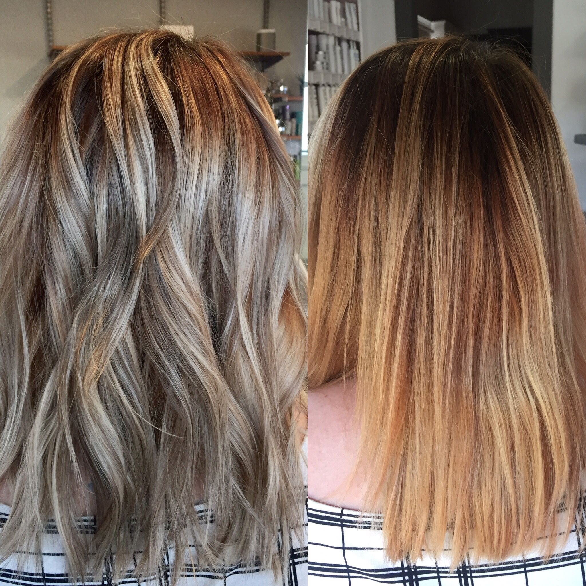 Brassy to classy cooled down her yellow brassy blonde and created