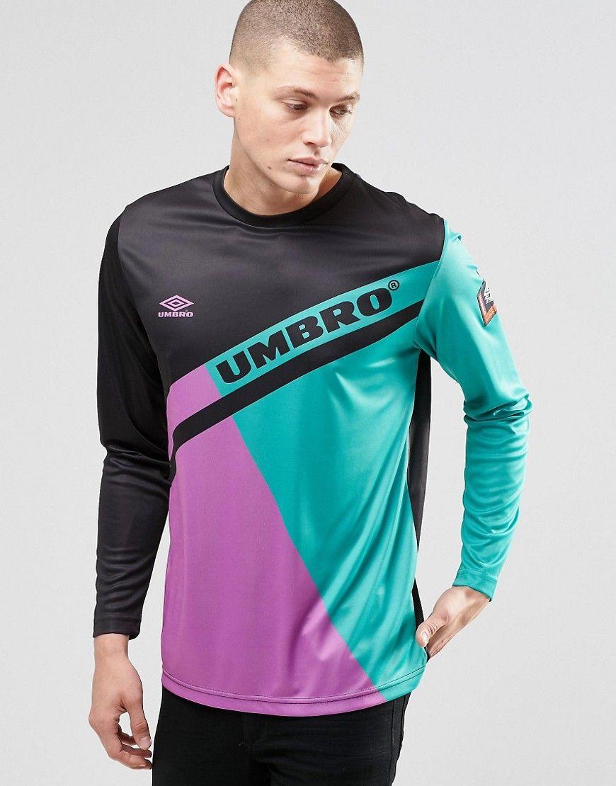 Black umbro t shirt - Image 1 Of Umbro Long Sleeve T Shirt In Retro Print