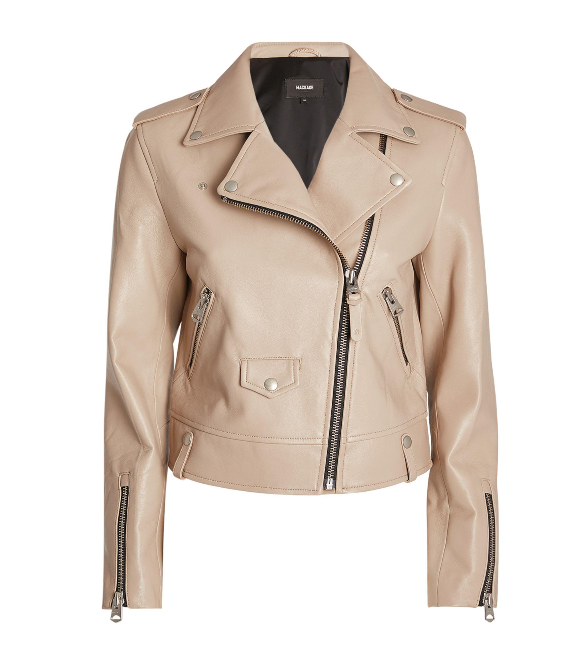 Mackage Beige Leather Biker Jacket Harrods Gb Ad Affiliate Leather Beige Mackage Biker Gb Women Leather Jacket Monogram Sweater [ 2328 x 2048 Pixel ]