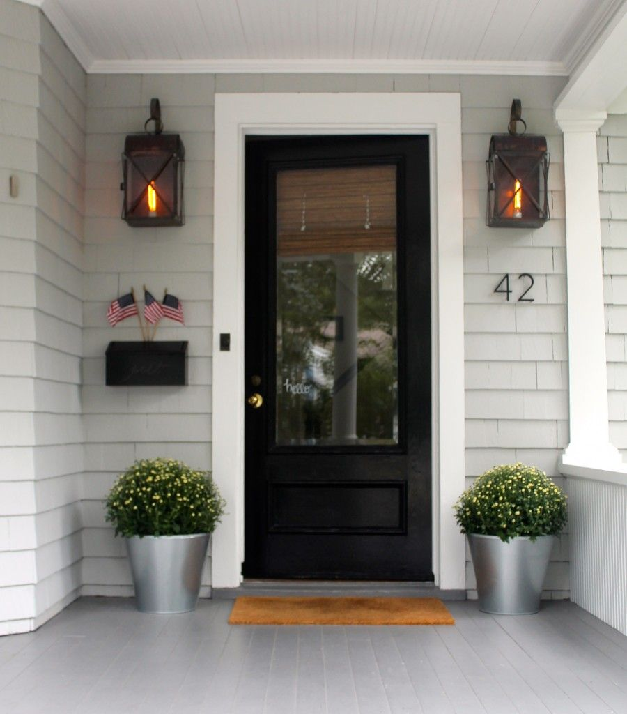 Simple is often better door trims door opener and glass for Entry door with window that opens