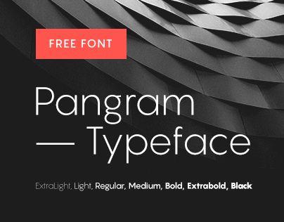 Pangram Typeface #free #font   Web Free Fonts   Fonts, Glyphs