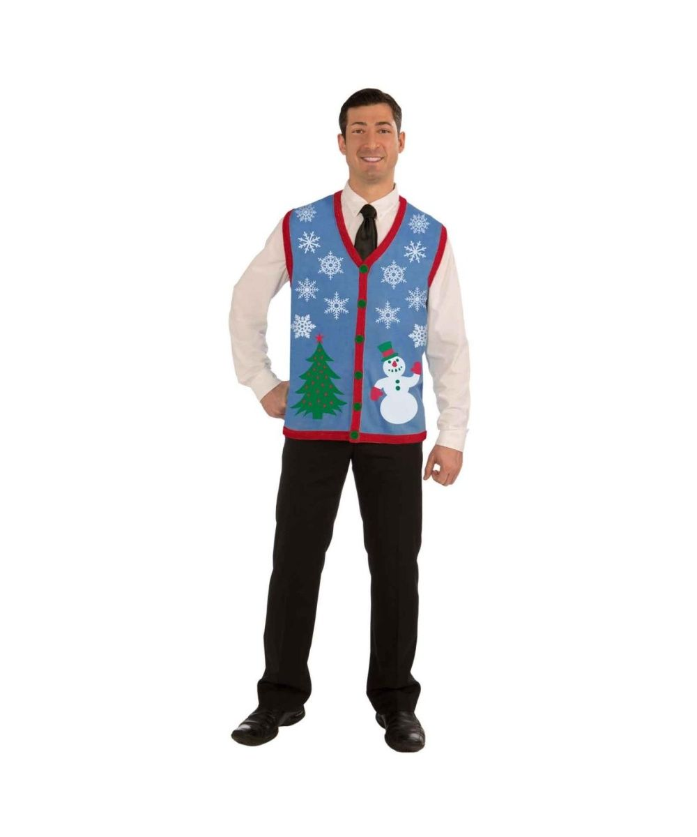 Christmas Tree And Snowman Ugly Mens Costume Vest: Here it is! The ...
