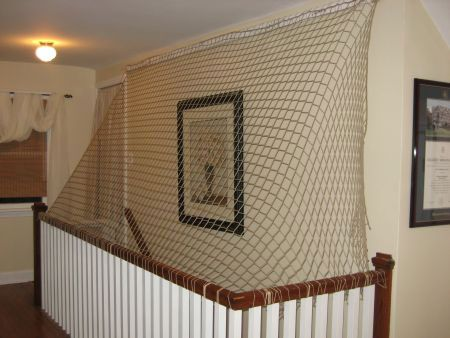 Child+safe+stair+railing | Stair Barrier Safety Nets