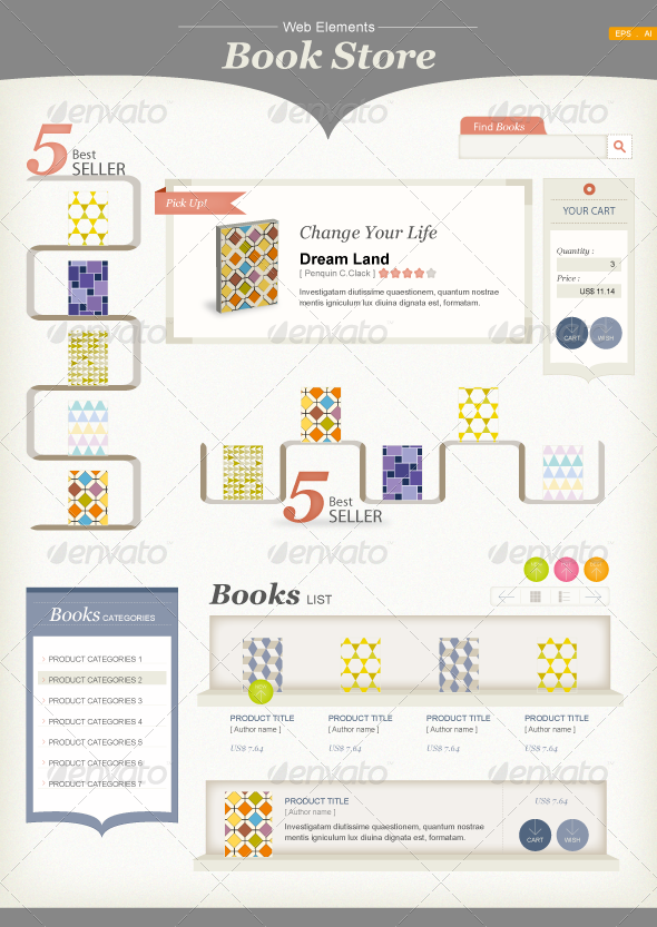 Web Elements : Book Store