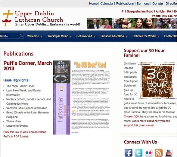 living lutheran website