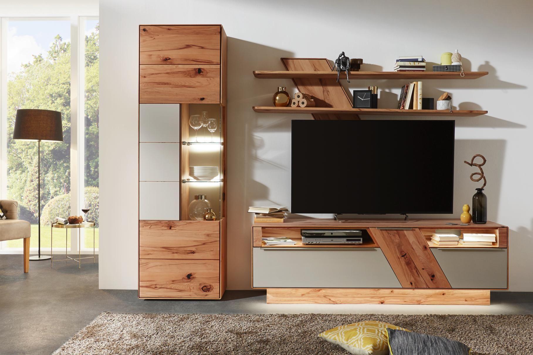 Wohnwand In Buche Weiss Von Valnatura Modern Tv Wall Units