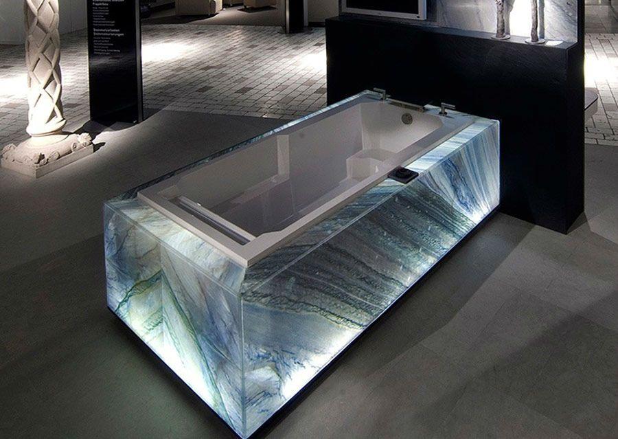 Stein Licht Schubert Stone Steinverkleidung Luxus Badewanne