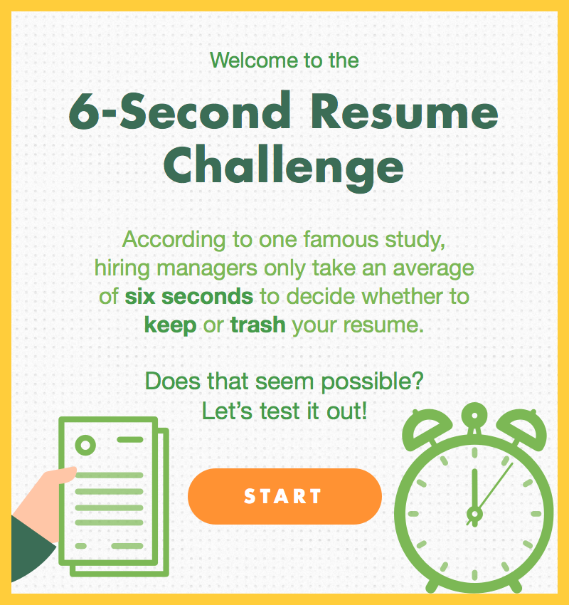 infographic  6 second resume  average joes vs  recruiters