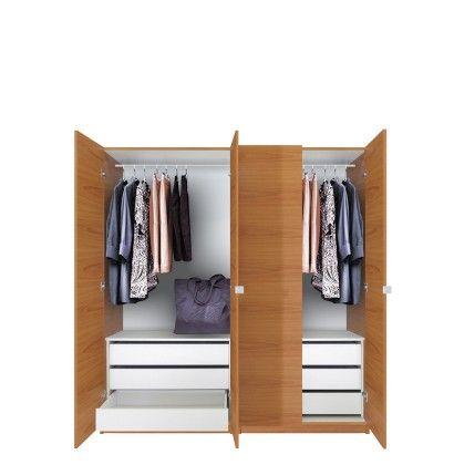 Alta Wardrobe Closet Package 6 Drawer Wardrobe Package
