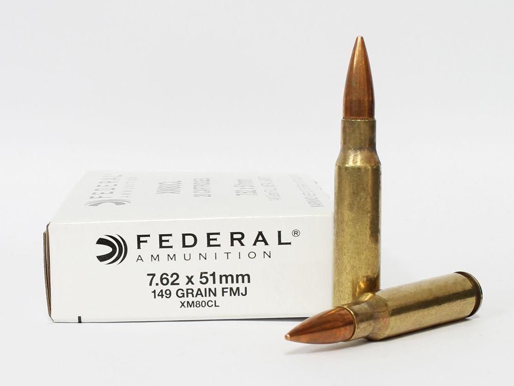 Federal Ammunition 7.62x51mm NATO 149 Grain FMJ.