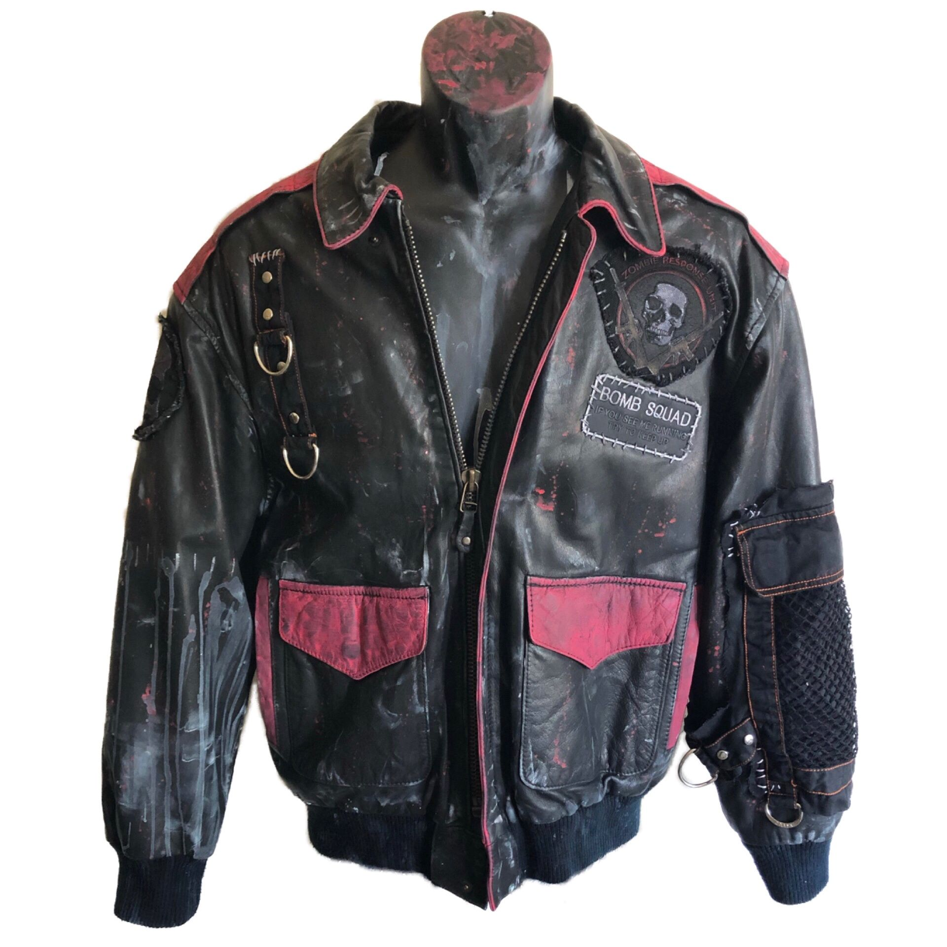 Bomber Ghost Jacket By Chad Cherry In 2021 Custom Clothes Horror Clothes Punk Subculture [ 1920 x 1920 Pixel ]