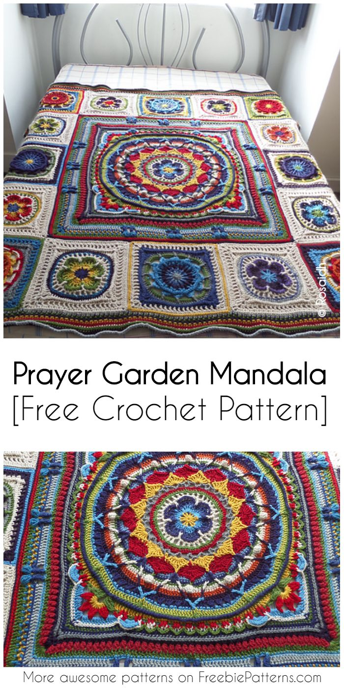 Crochet Prayer Garden Mandala Free Pattern Freeform Crochet