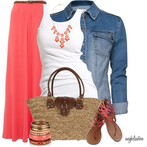 Cute summer into fall style.