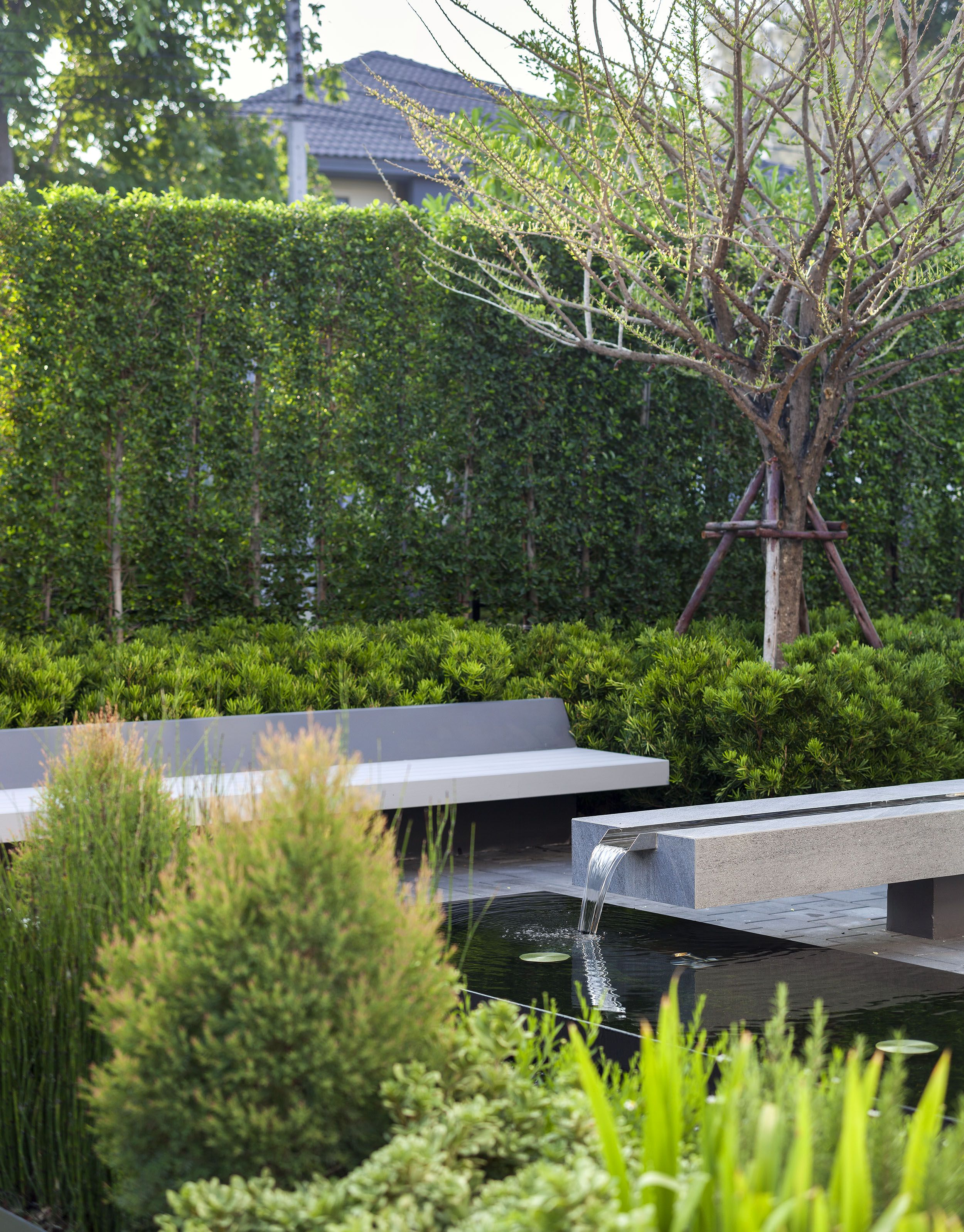 Fountain Pond Garden Design Landscape Design Water Features