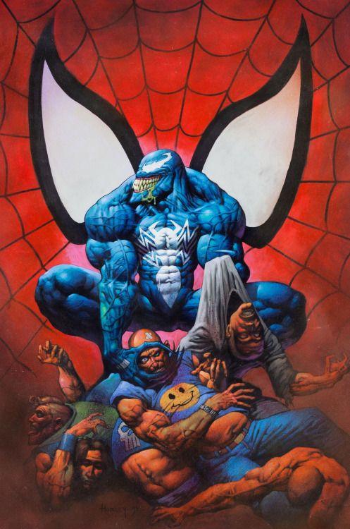 The Marvel Age of Comics, travisellisor:   1995 Venom poster by Alex Horley