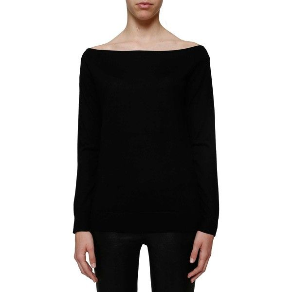 THEORY 'Ebliss' merino sweater ($285) ❤ liked on Polyvore featuring tops, sweaters, black, merino wool tops, theory sweaters, merino top, theory tops and merino sweater