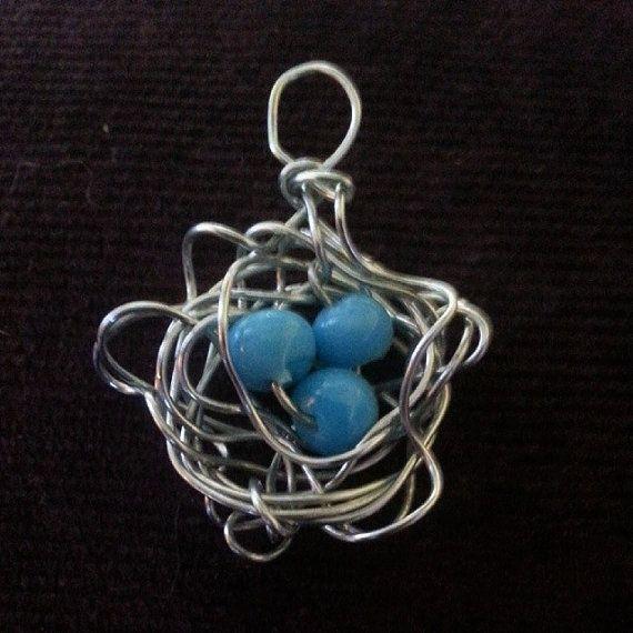 Urban Dames Bird Nest Pendant by GardenPretties on Etsy, $10.00