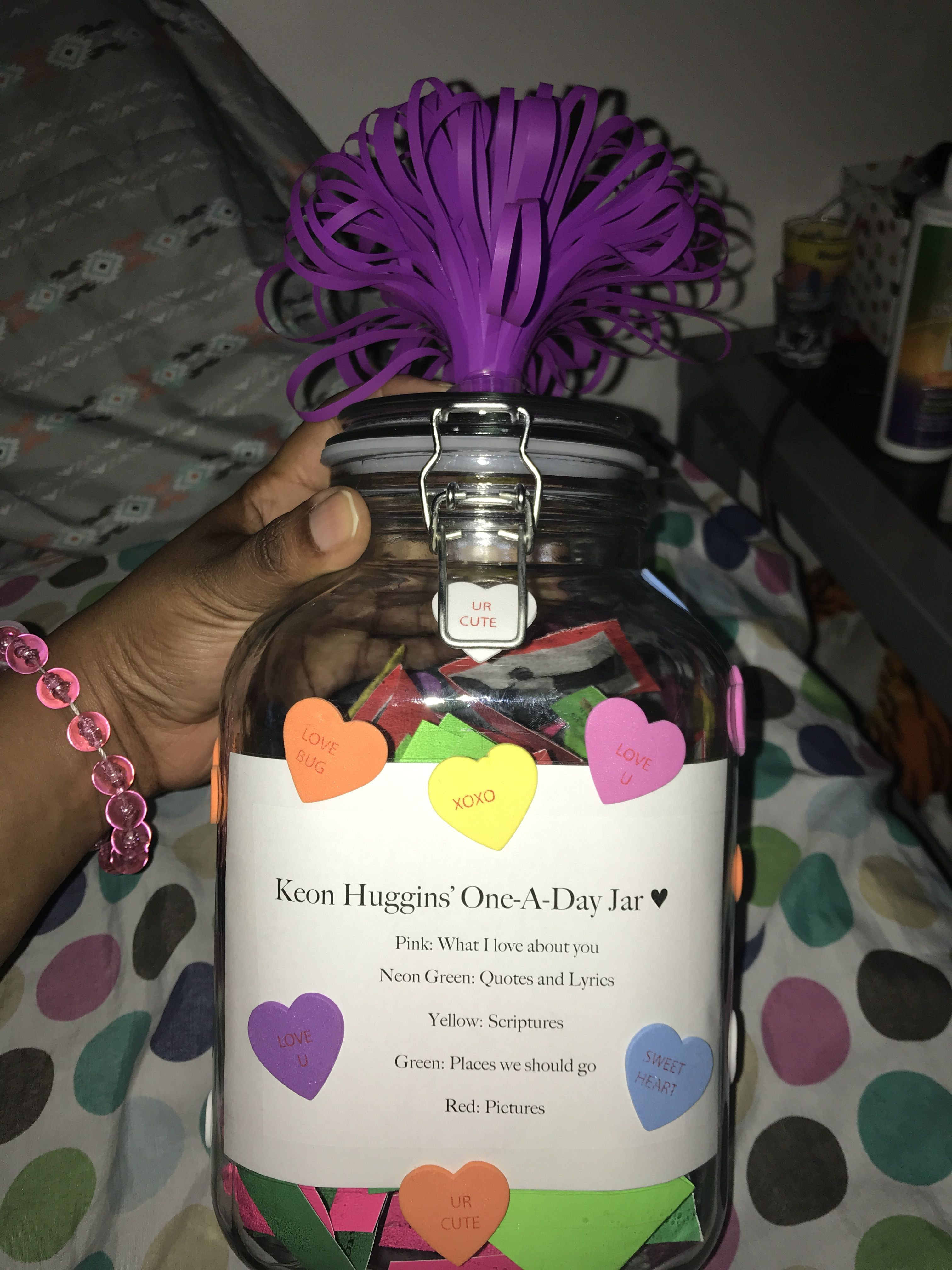 My Version Of The 365 Jar Without 365 Notes Mason Jar Gifts Love Jar Christmas Gifts For Girlfriend