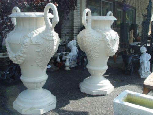 Monumental Victorian Style Swan Cast Iron Urns 10c106 Closeout Sale Ebay Ashley Furniture Sale Victorian Fashion Urn