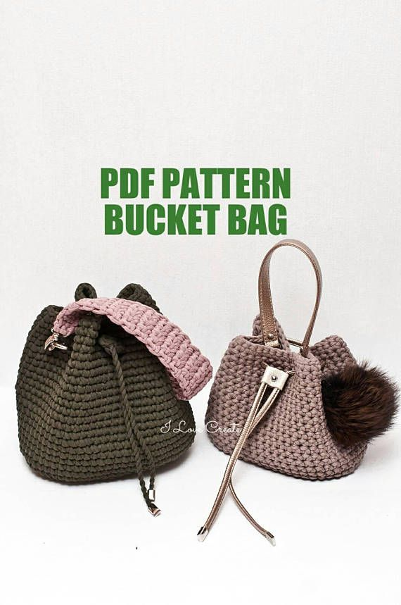 Crochet bag pattern Crochet tutorial Bryce bag PDF pattern | bolsas ...