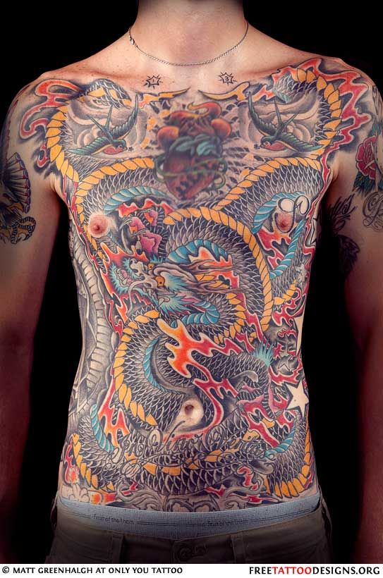 46 Awesome Chest Tattoos Dragon Tattoo Chicken And Shrimp Recipes Women