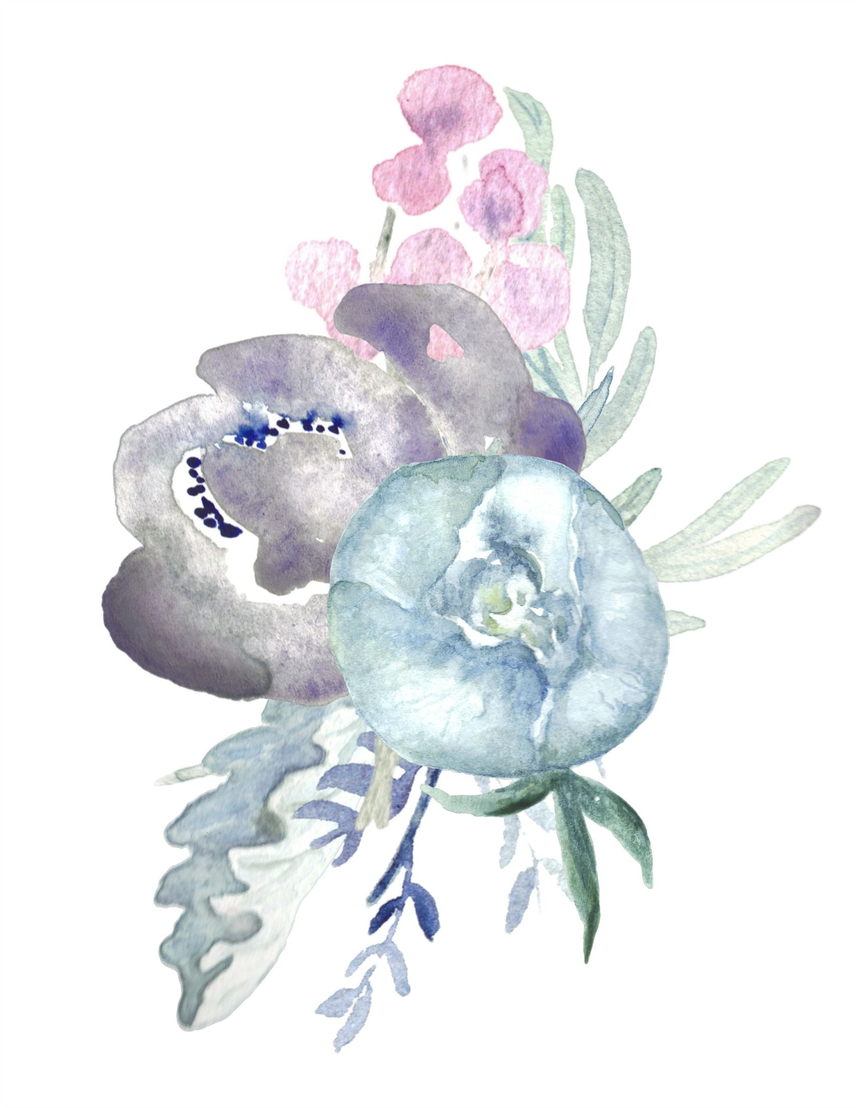 6 Free Printable Floral Watercolour Designs Floral Watercolor