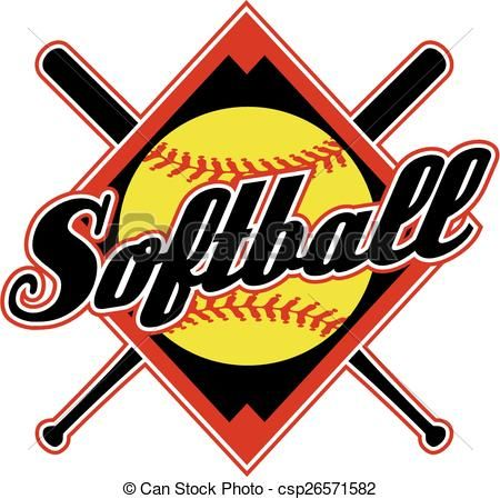 vector softball design stock illustration royalty free rh pinterest com