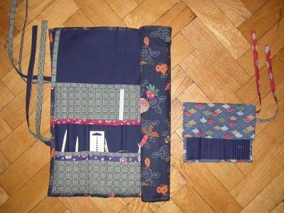 Knitting Needle Case To Hold Circular Needles As Well As Straight