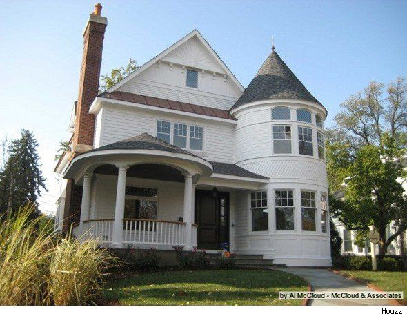 Popular Home Styles queen anne house: a turreted, transitional design   queen anne