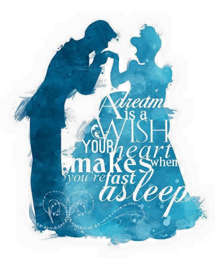A Dream Is A Wish Your Heart Makes Disney Princess Wall Art