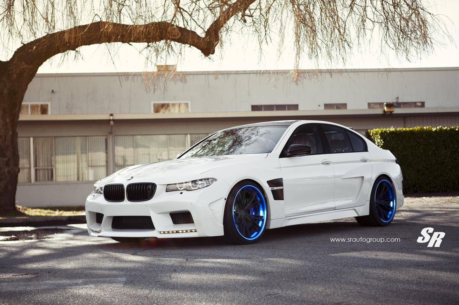 Hamann BMW M5 With Matte Black And Bue Anodized Wheels
