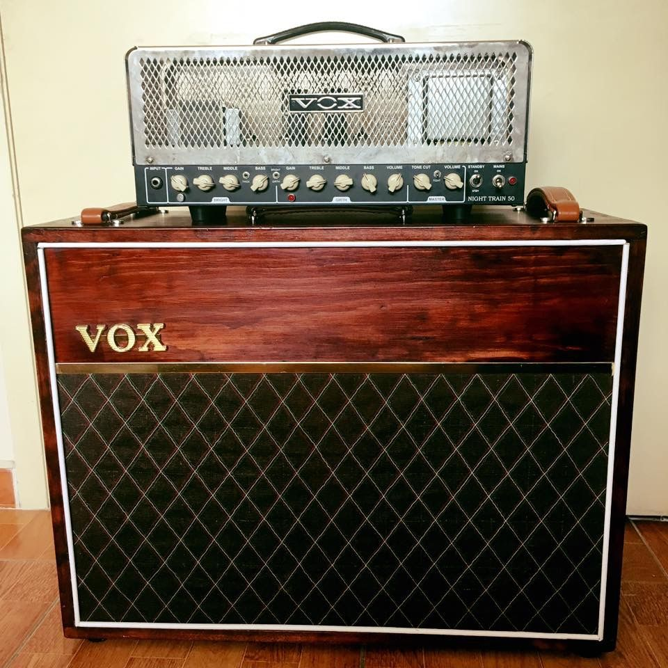 Meuble Rangement Guitare Vox Night Train 50 Mahoganey Vox Cabinete 2x12