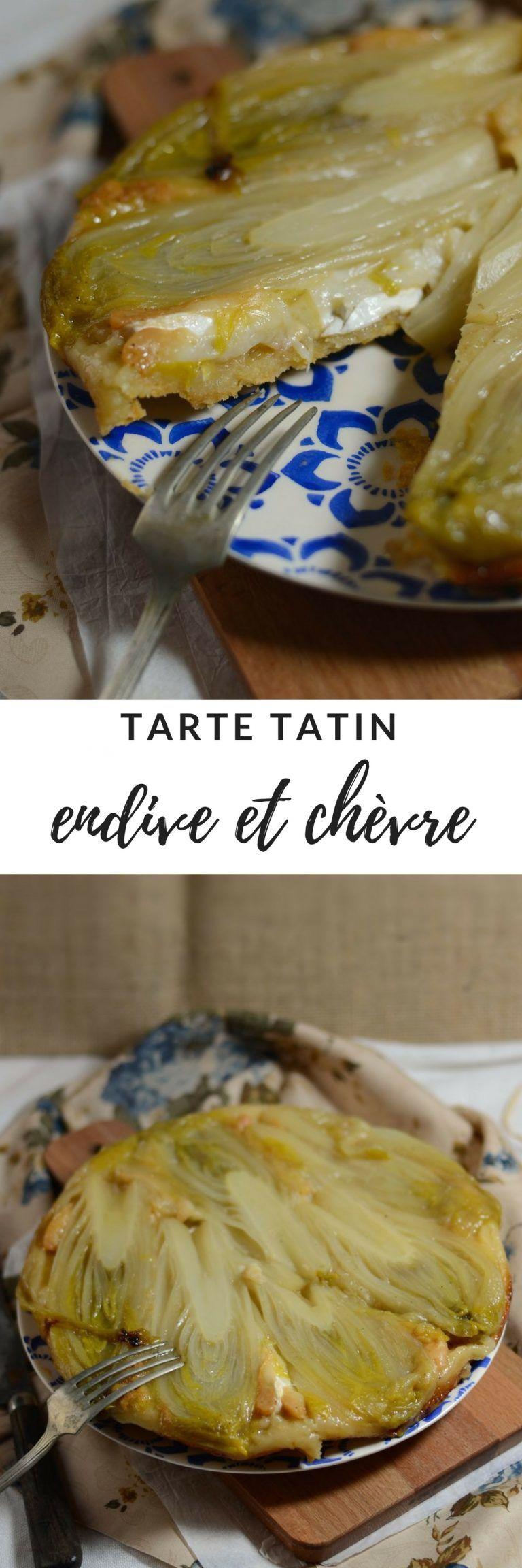 Tarte tatin d'endive au chèvre et miel   Recette (avec ...