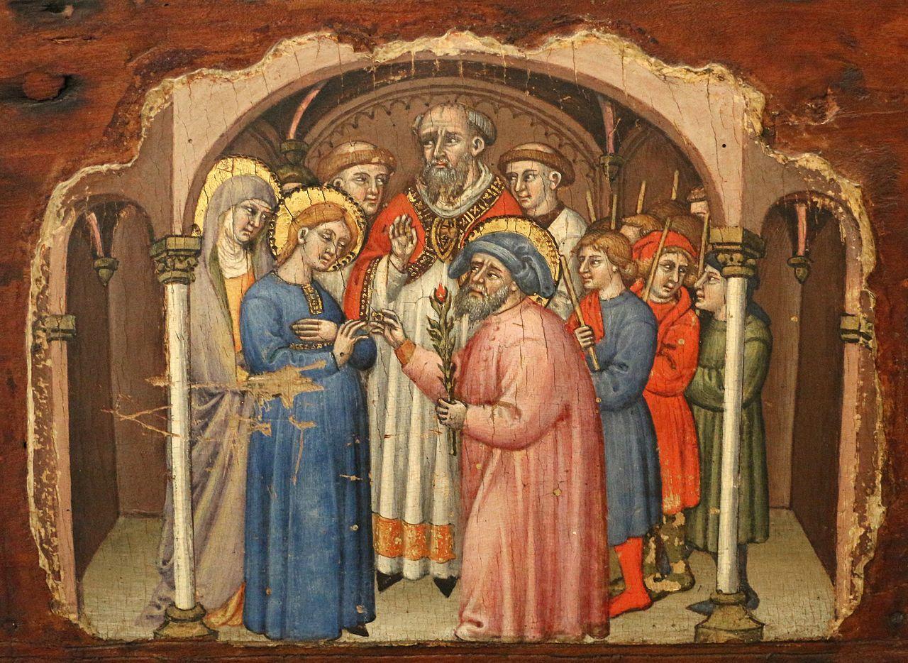 crucifijos Simone, que Episodios de la vida de ca maria1396-98, retablo Cospi en s.  04.jpg Petronio