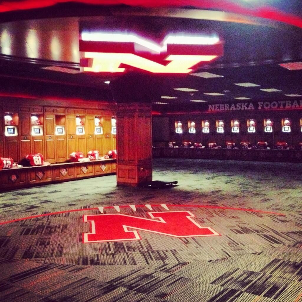 Husker Locker Room On Game Day Nebraska Husker Football Nebraska Football