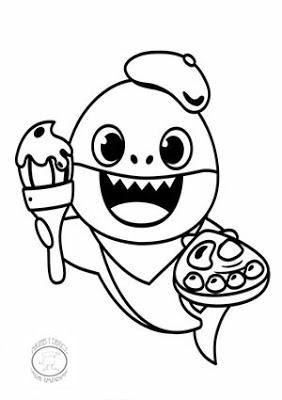 Dibujos De Baby Shark Para Colorear Imagenes Y Dibujos Para Imprimir Shark Coloring Pages Coloring Pages Bear Coloring Pages