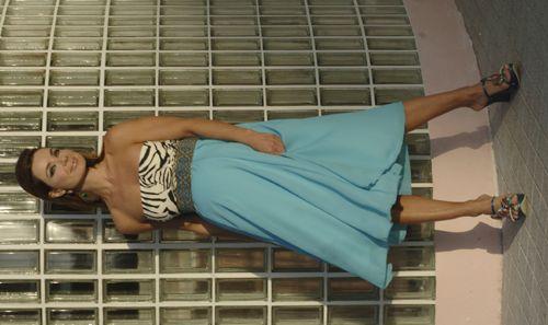 Blue Zebra Formal Maternity Dress - SUPER | American pie, Maternity ...