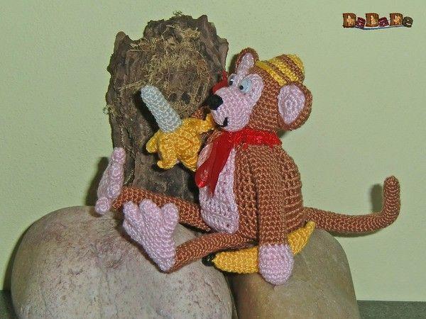 Geschenke-Tasche oder Adventskalender Tiere, Affe - gehäkelt von ...