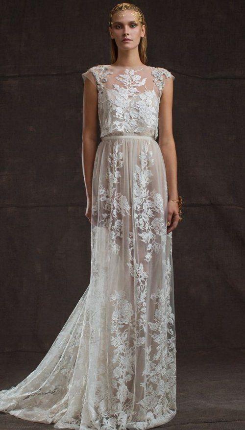18 romantic bomemian chic summer wedding dresses for the for Modern elegant wedding dresses