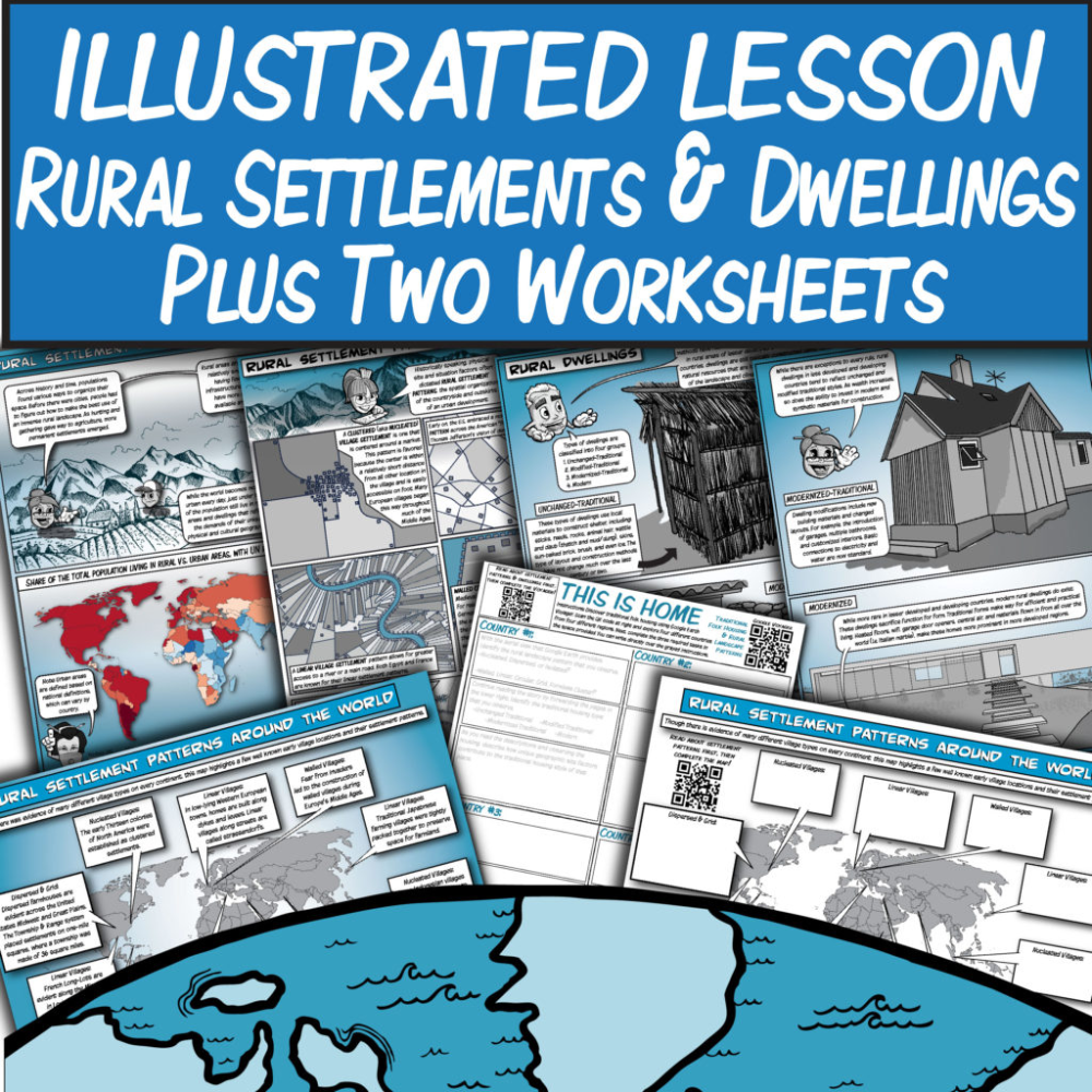 Rural Settlements Dwellings Illustrated Textbook Pages