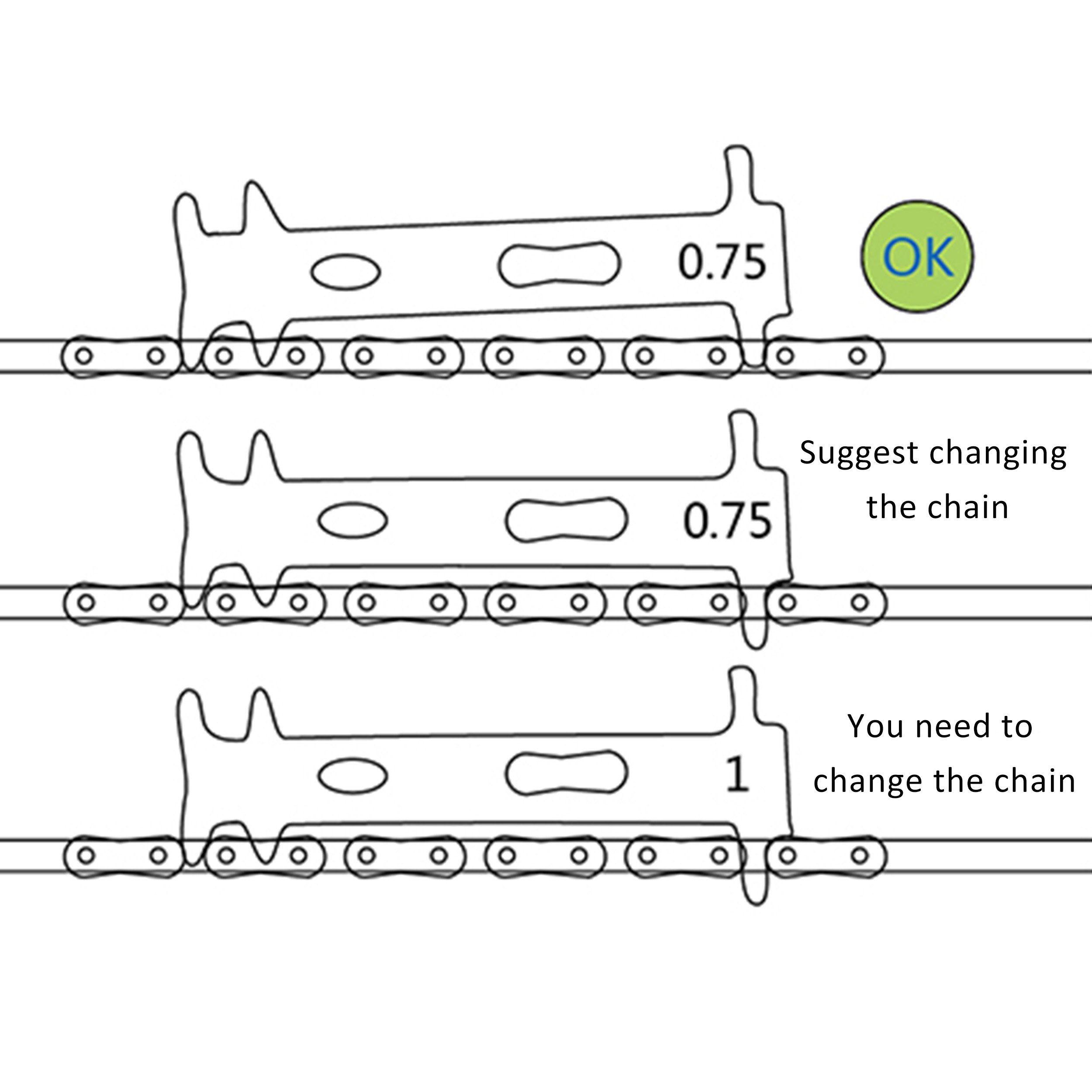 Bicycle Bike Chain Checker Wear Indicator Measure Tool Accessory