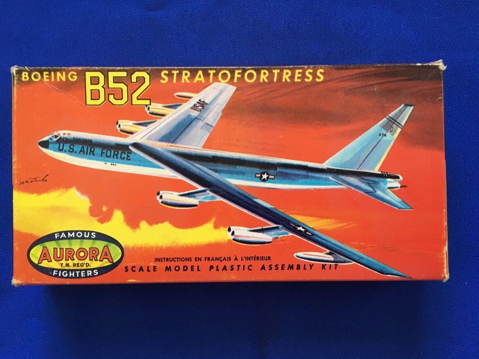 Car Toys Aurora Co: Aurora Boeing B-52 Stratofortress Vintage Model Kit 1960's