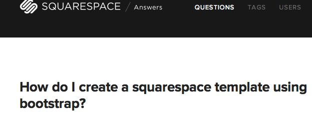 Integrating Bootstrap into SquareSpace | coding | Templates