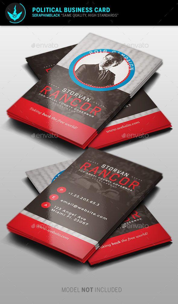 Political Business Card Template Business Card Design Minimal Design Business Card Ideas Colorful Business Card