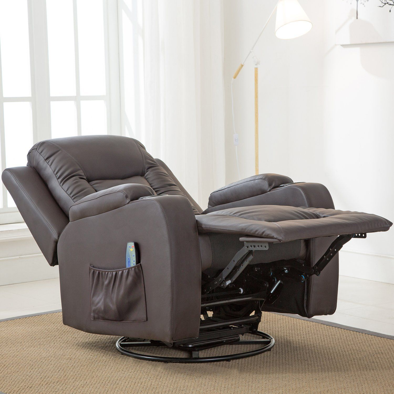 ComHoma Massage Recliner Chair Heated Modern Rocker