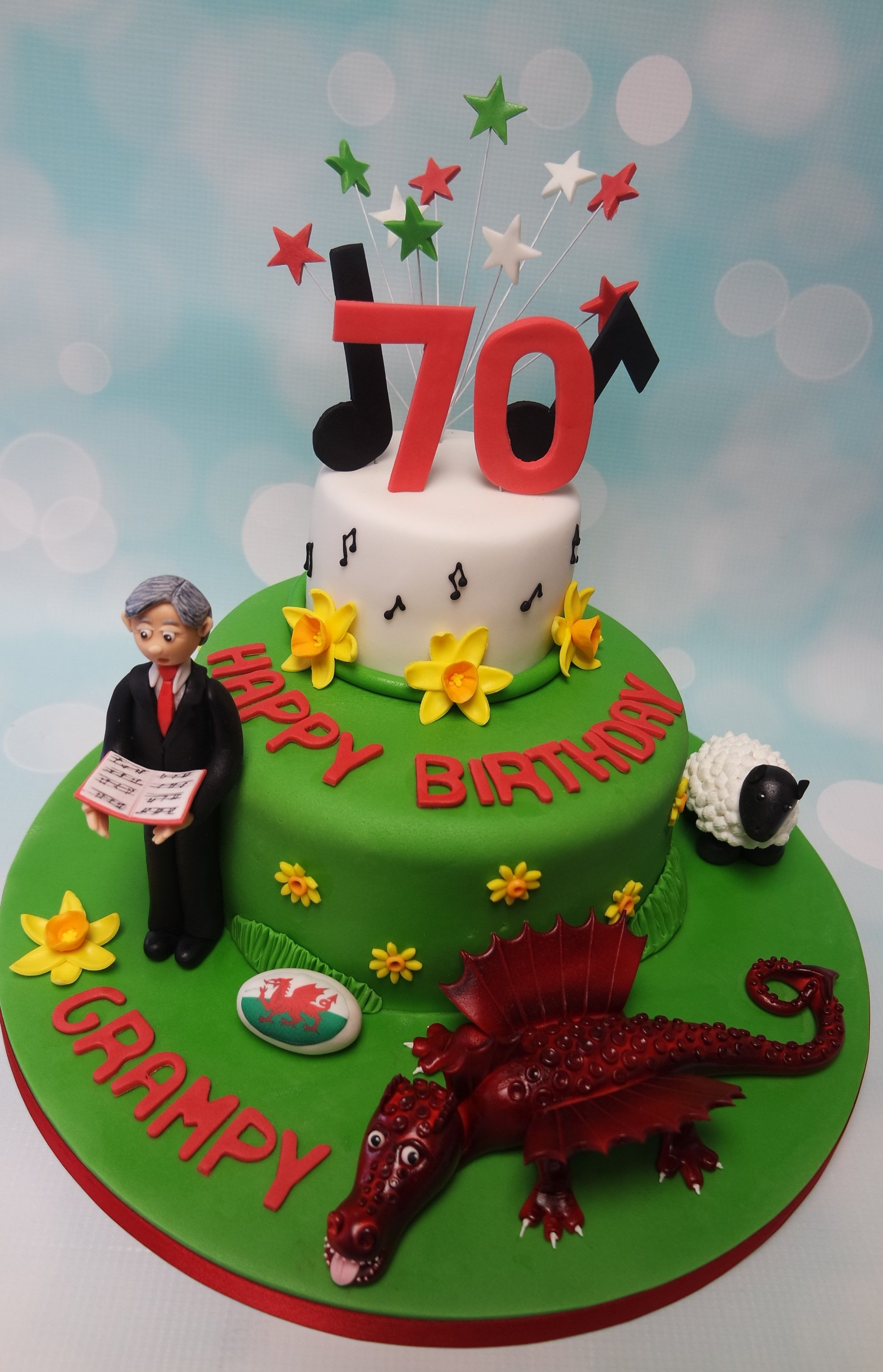 Lots of elements to this welsh themed 70th birthday cake love it lots of elements to this welsh themed 70th birthday cake love it publicscrutiny Image collections