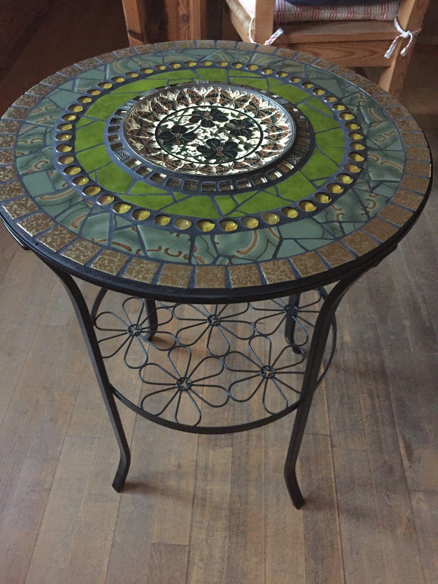 Mosaik Tisch Beistelltisch Garten Bistrotisch Bistrotisch