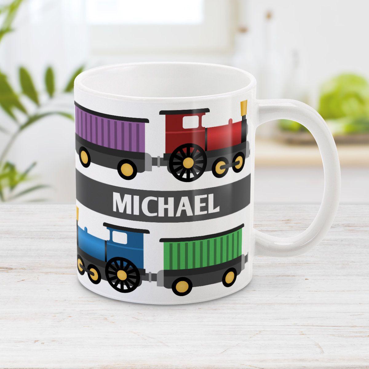 Personalized Train Mug Red Blue Green Purple Fun Locomotive Etsy Mugs Mugs Set Discount Mugs