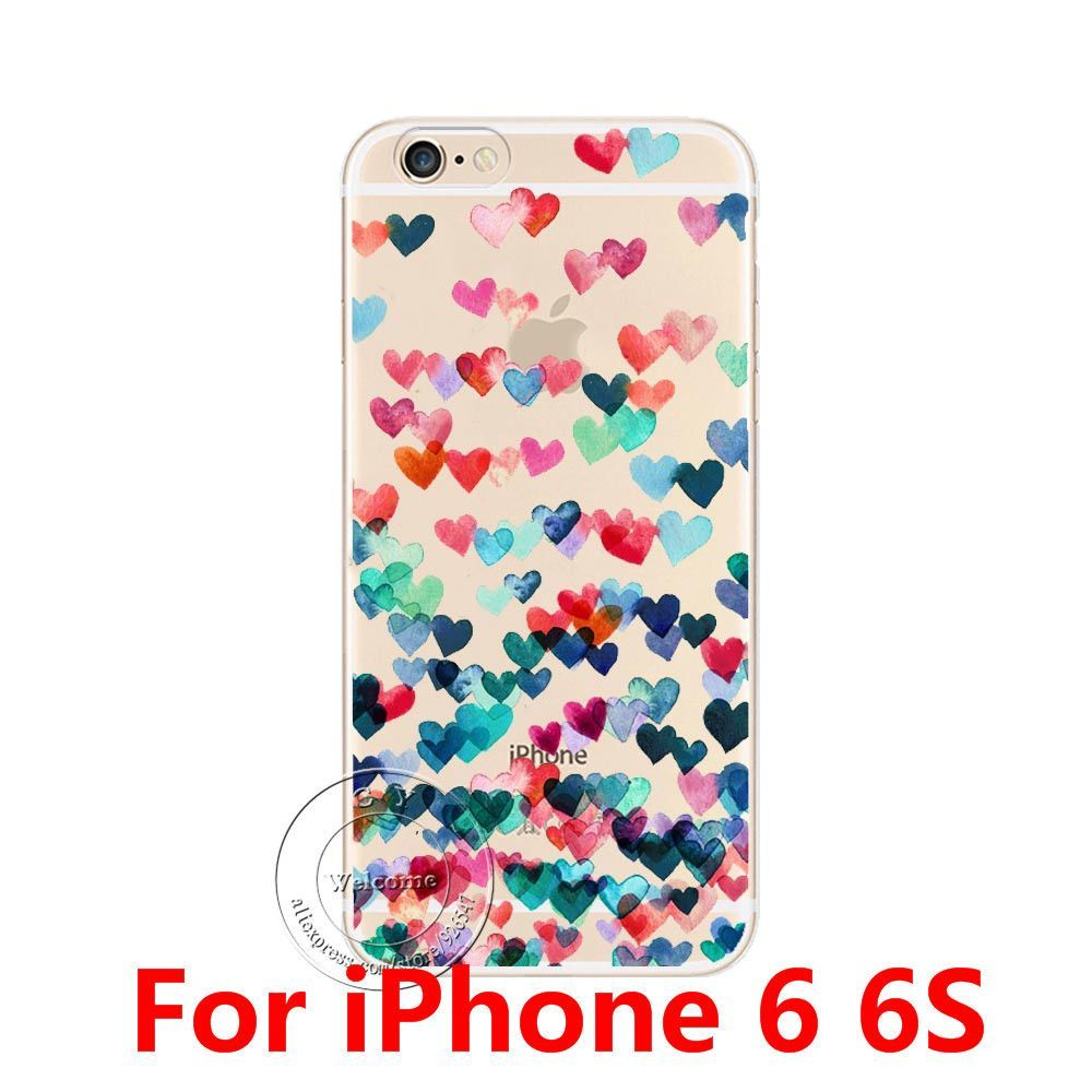 2016 NEW Cute Cat Fashion Design Ultra Thin Soft TPU Gel Silicon Transparent Case Cover For Apple iPhone 6 6S 6 Plus 6S Plus