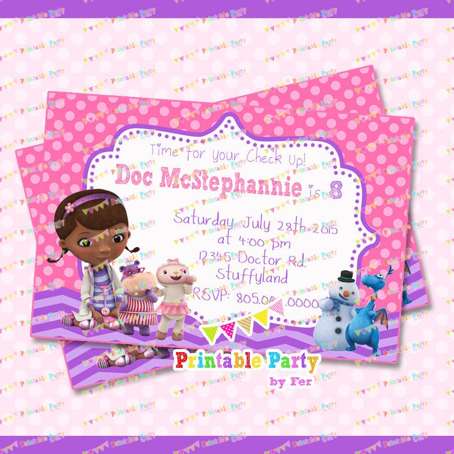 Doc Mcstuffins Invitation Sweetie Pie S Third Birthday 3